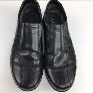 Men's Ecco Black Slip-On Dress Shoes sz 45 11 11.5